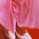 'The Pink Skirt' - oil painting