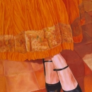 'The Orange Skirt' - oil painting